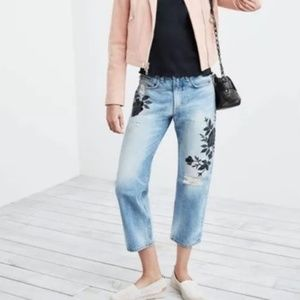 Rag & Bone | 26 Marilyn Embroidered Crop Jeans